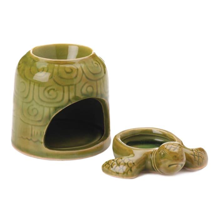 Green Porcelain Turtle Oil Warmer