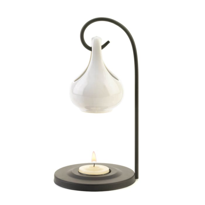 White Porcelain Tear Drop Candle Oil Warmer