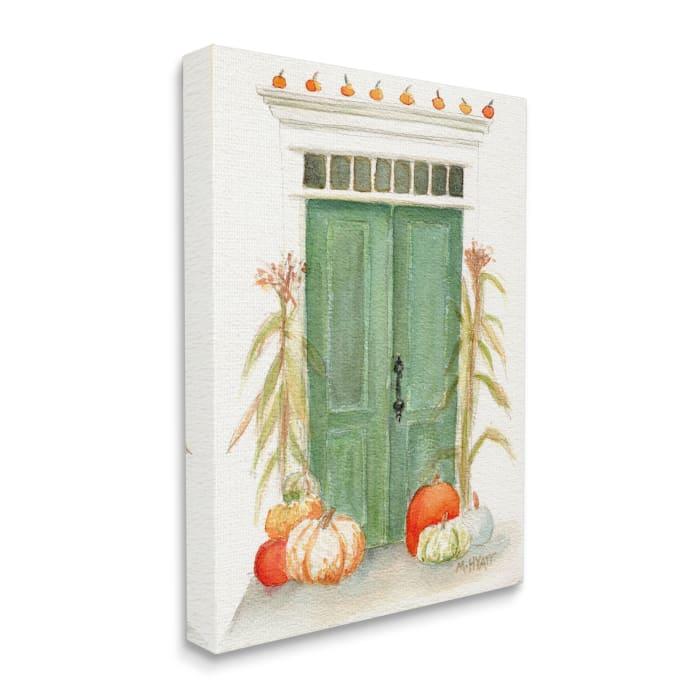 Entryway Door Architecture Autumn Harvest Pumpkins Wall Art
