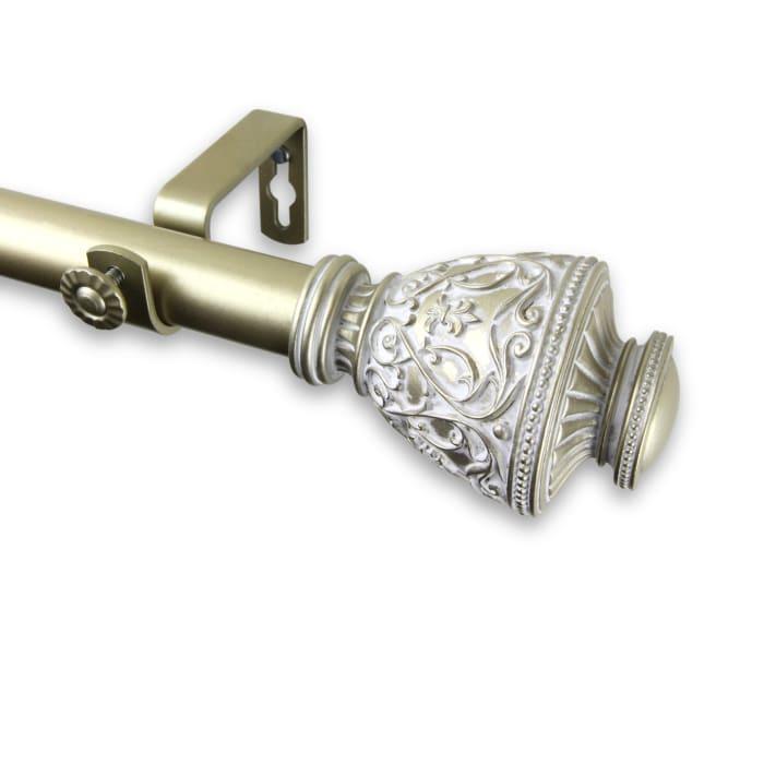 Curtain Rod 1 inch diameter 66-120 inch  - Light Gold