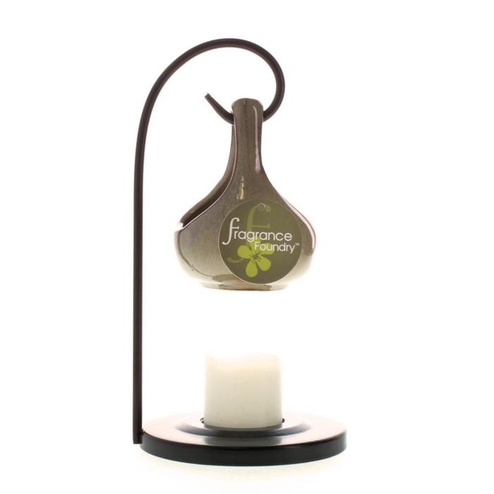 Earth Tone Porcelain Tear Drop Candle Oil Warmer