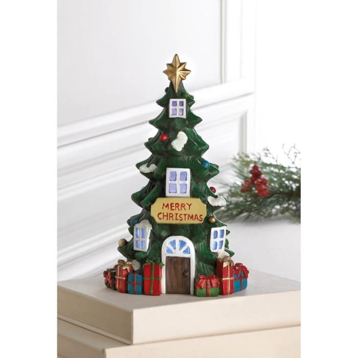 Light Up Christmas Tree House
