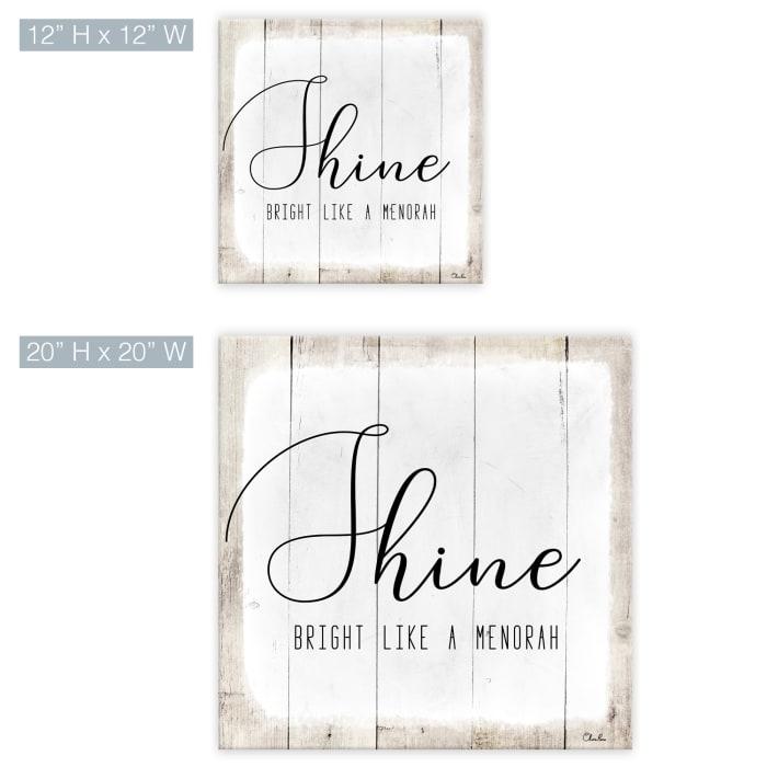 Shine White Hanukkah Canvas Wall Art
