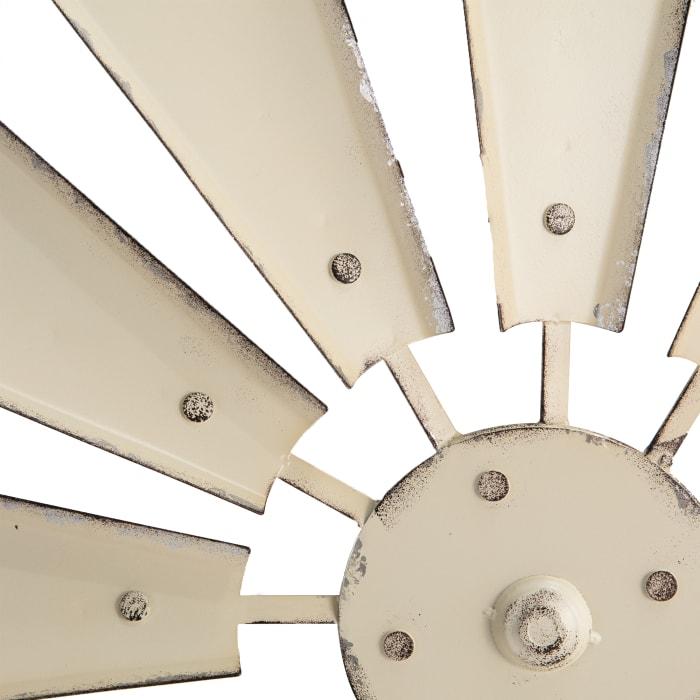 Vintage Beige Metal Wind Spinner Wall Décor