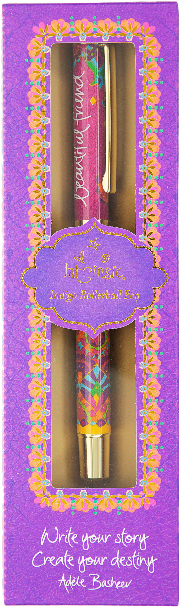 Beautiful Friend - Boxed Gift Pen with Indigo (Purple) Ink