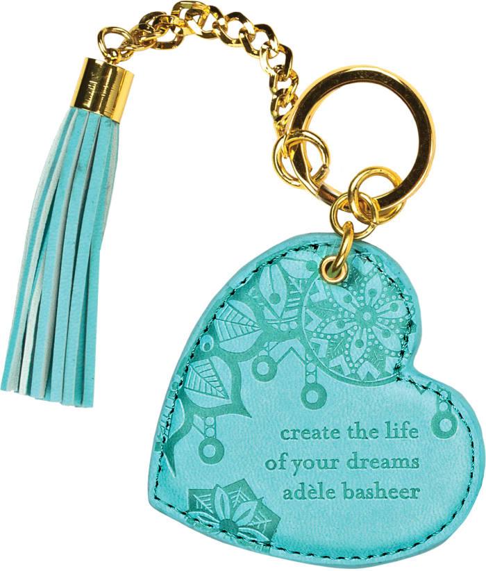 Tahitian Turquoise - Vegan Leather Keychain