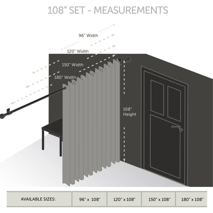 Room Darkening Curtain 108 inch Height - 1 Panel - Size: 150Wx108H - Dark Blue