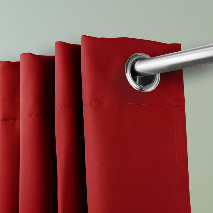 Room Darkening Curtain 96 inch Height - 1 Panel - Size: 180Wx96H - Red