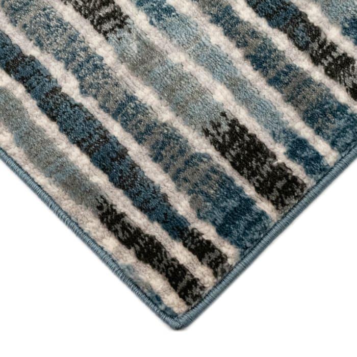 Stripe Indoor Rug Blue 6'6