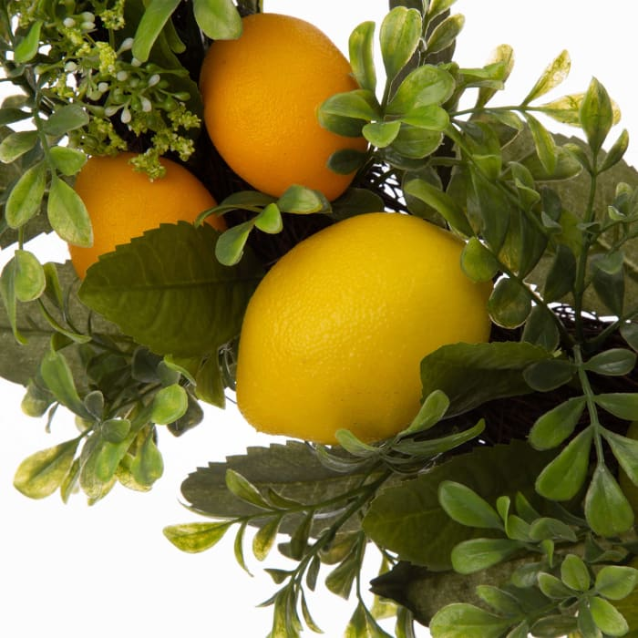 Artificial Greenery Lemon Wreath
