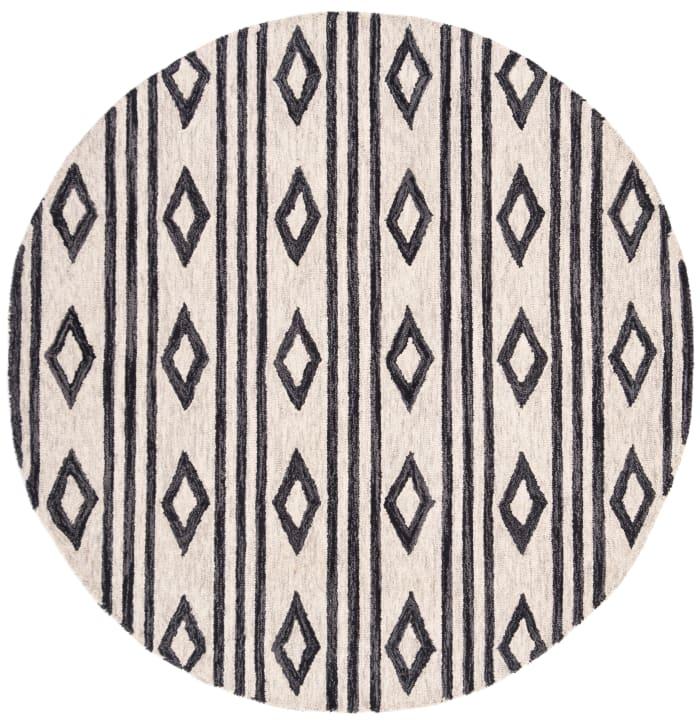 Essence Ivory Wool Rug 5' Round