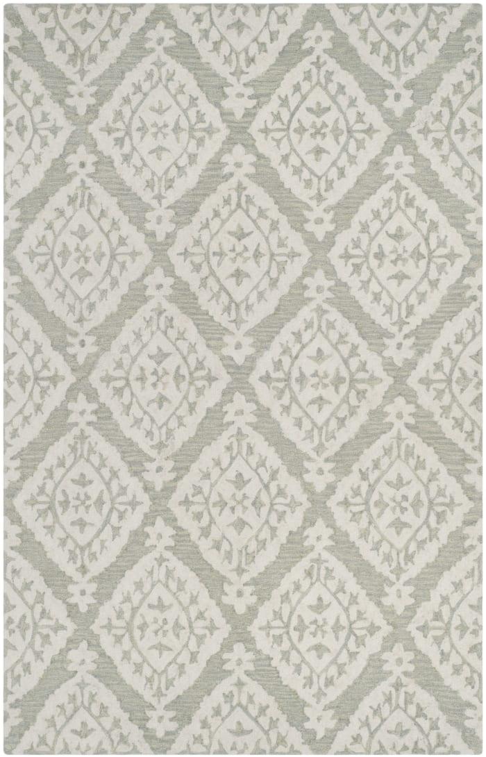 Essence Green Wool Rug 5' x 8'
