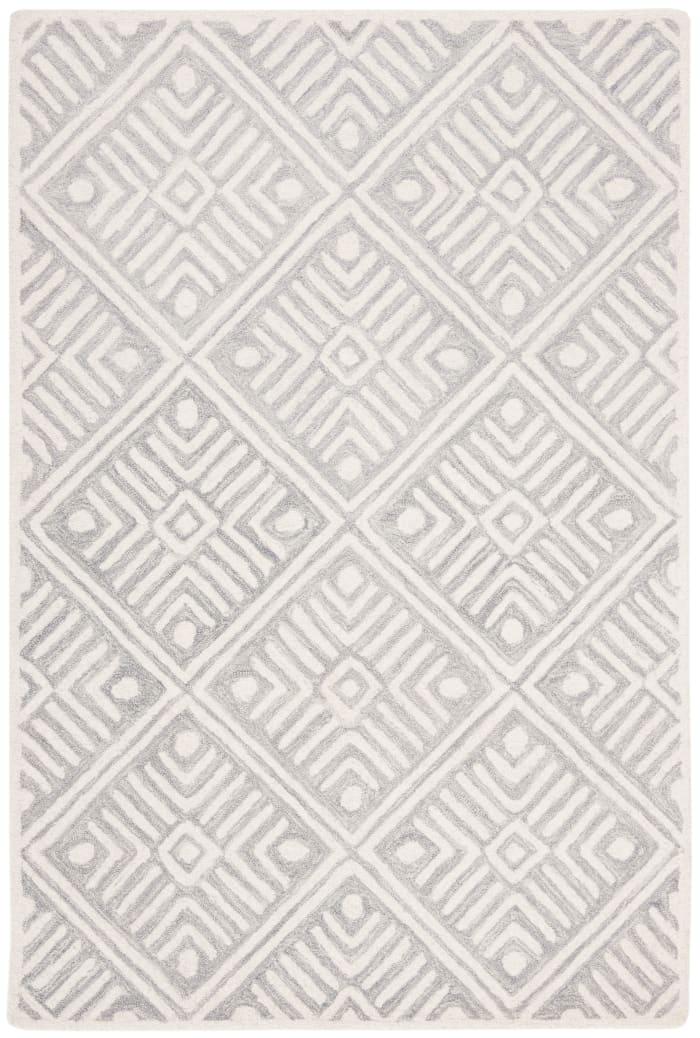 Essence Gray Wool Rug 4' x 6'