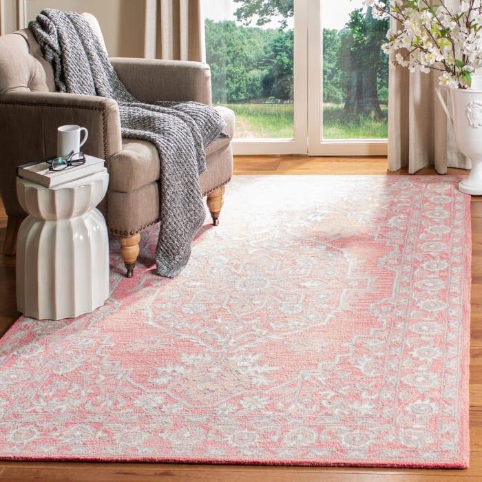 Essence Pink Wool Rug 4' x 6'