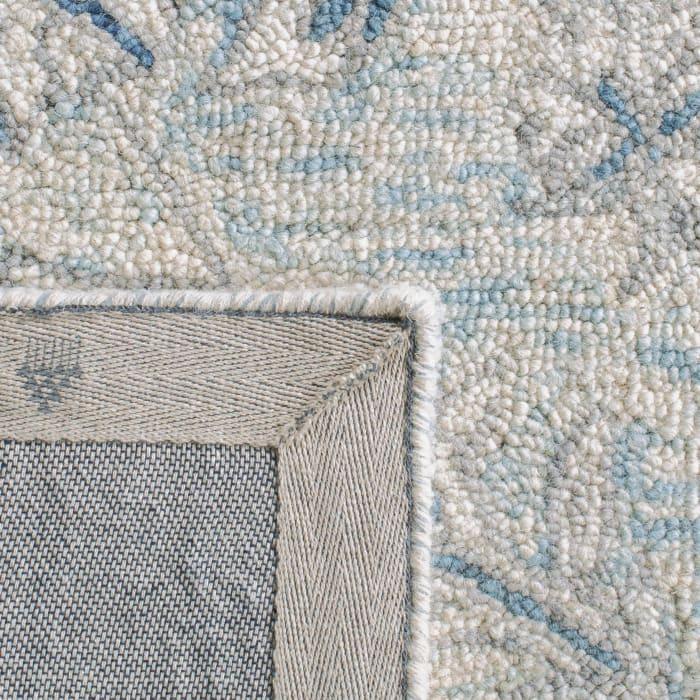 Essence Blue Wool Rug 2'25