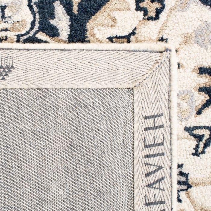 Ivory Wool Rug 2'25