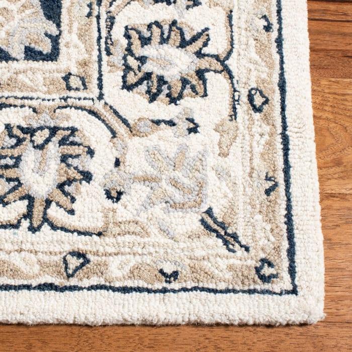 Ivory Wool Rug 5' x 8'