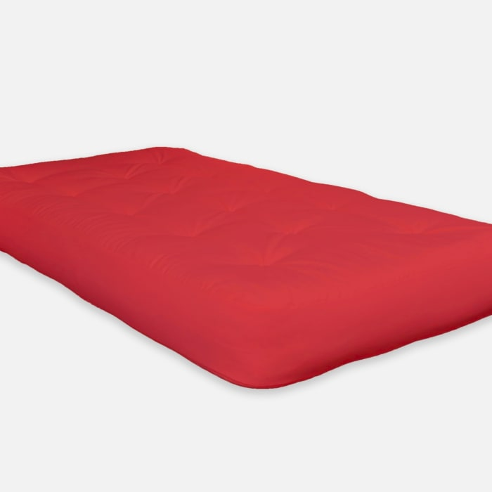 Single Foam Twin Futon 75 x 39 in Red Mattress