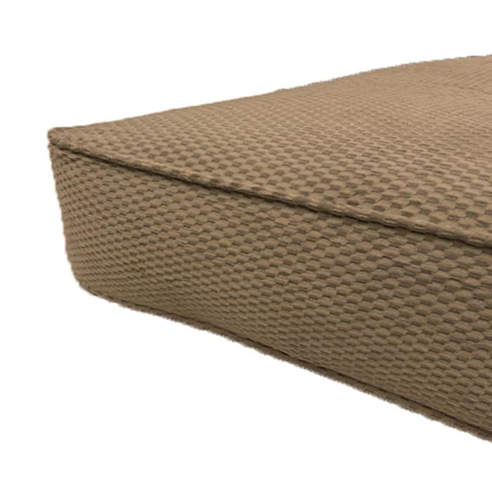 Chocolate Double Poly Single Foam Full Futon 75 In. x 54 In. in Brown Mattress