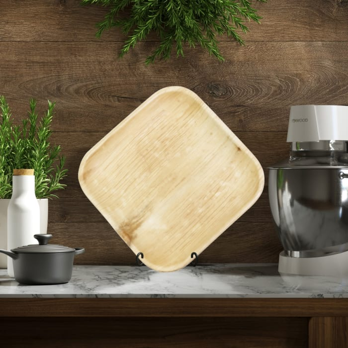 Indra Square Disposable Palm Leaf Plate 8