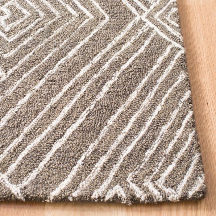 Gray Wool Rug 8' x 10'