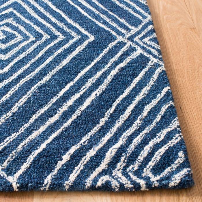 Blue Wool Rug 4' x 6'
