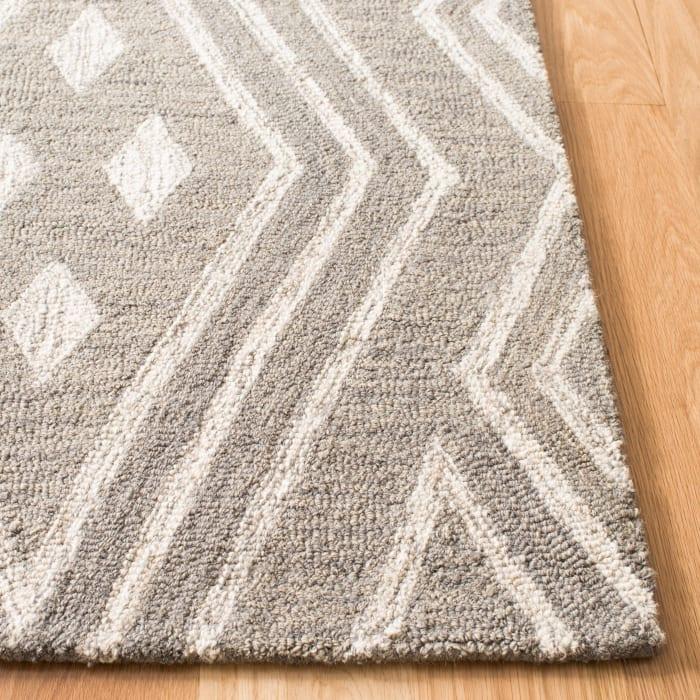 Gray Wool Rug Round 5'