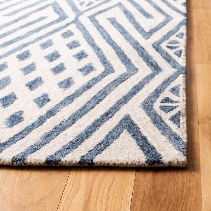 Blue Wool Rug 5' x 8'