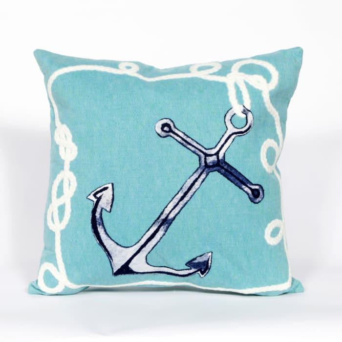 Marina Aqua Outdoor Pillow