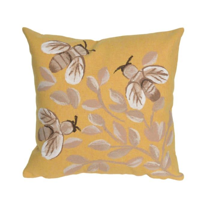 Bees Honey Outdoor Pillow