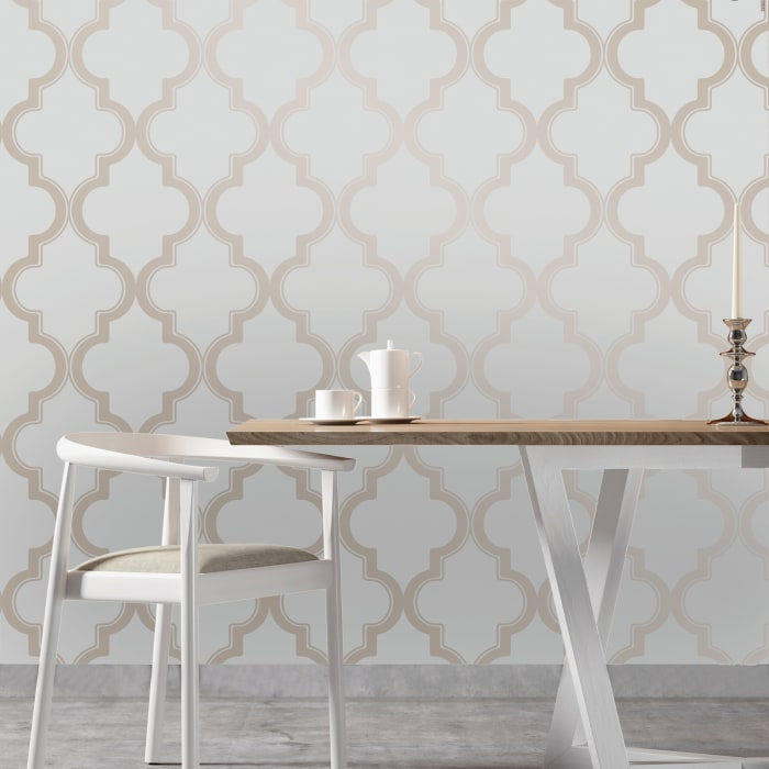 Bronze Gray Marrakesh Self-Adhesive Removable Wallpaper Double Roll