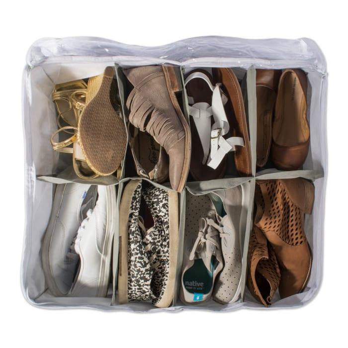 Gray 8 Shoes Soft Storage