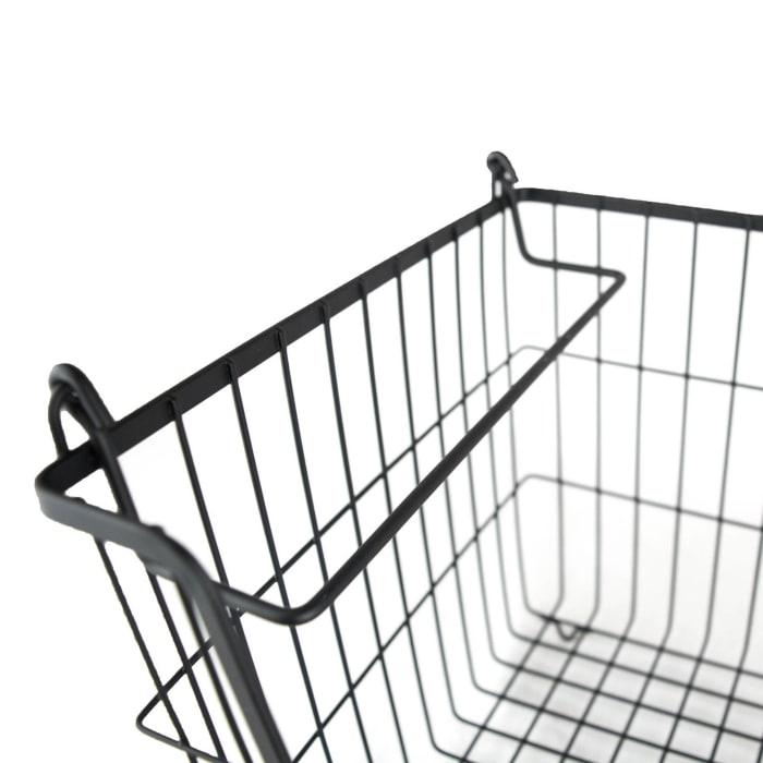 Metal Basket Black Rectangle Medium 13x11x9