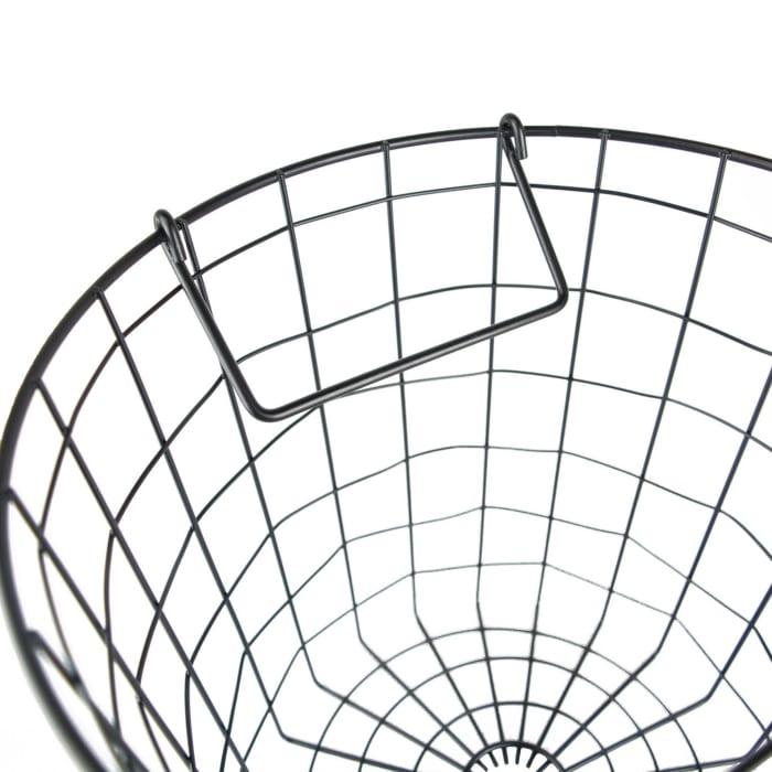 Metal Basket Black Round Small 12x12x10