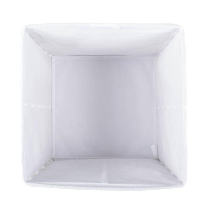 Nonwoven Polyester Cube Chevron Rose Square 11x11x11 Set/2