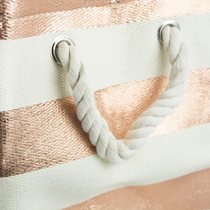 Paper Bin Stripe Copper Rectangle Medium 15x10x12