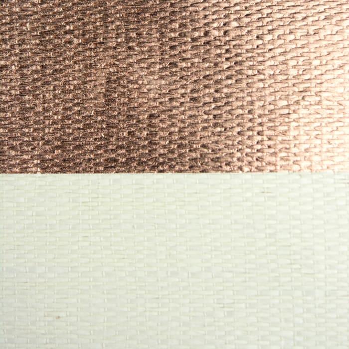 Paper Bin Stripe Copper Round Medium 13.75x13.75x17