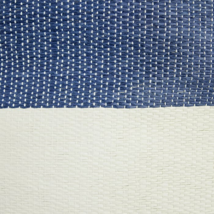 Paper Bin Stripe Nautical Blue Round Small 13.75x13.75x12