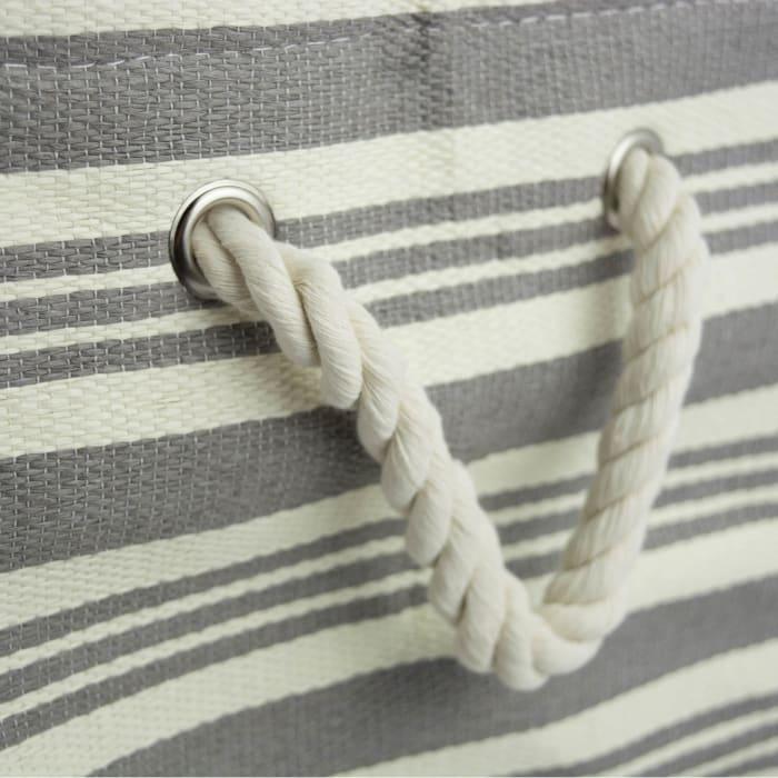 Paper Bin Urban Stripe Gray Rectangle Large 17x12x12