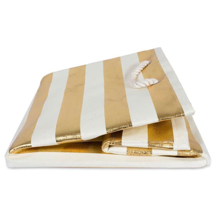 Paper Cube Stripe Gold Square 16x16x16
