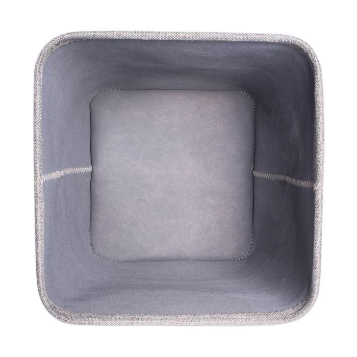 Poly Bin Zig-Zag Stitch Variegated Gray Trapezoid 11x11x11 Set/2