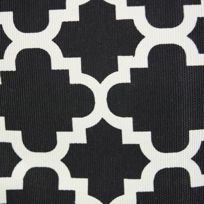 Polyester Bin Lattice Black Rectangle Medium 16x10x12