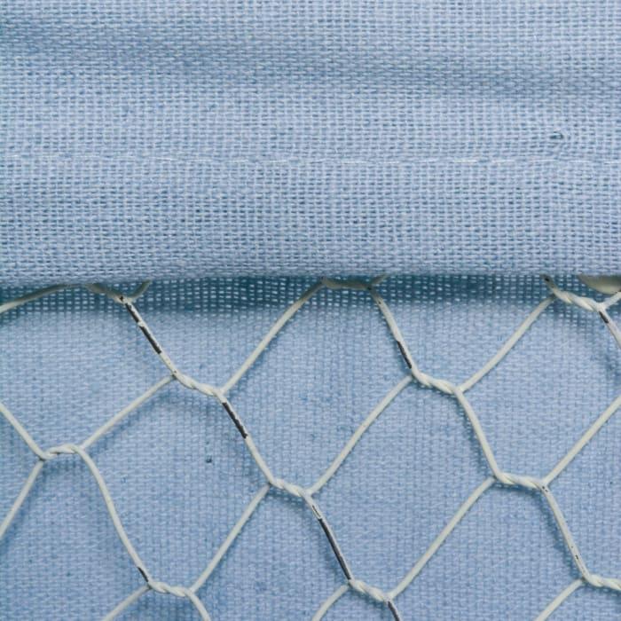 Chicken Wire (Set of 3) S,M,L - Antique White - Washed Denim