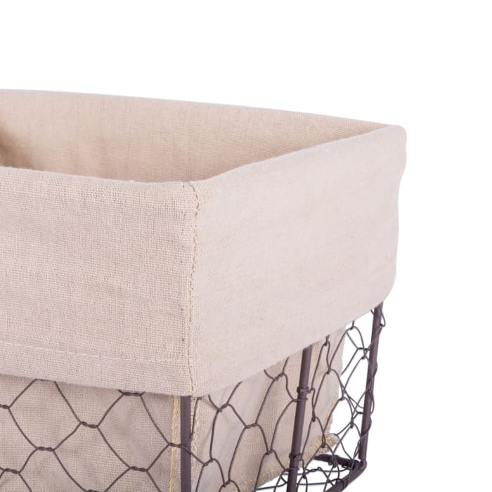Chicken Wire Basket (Set of 3) Natural