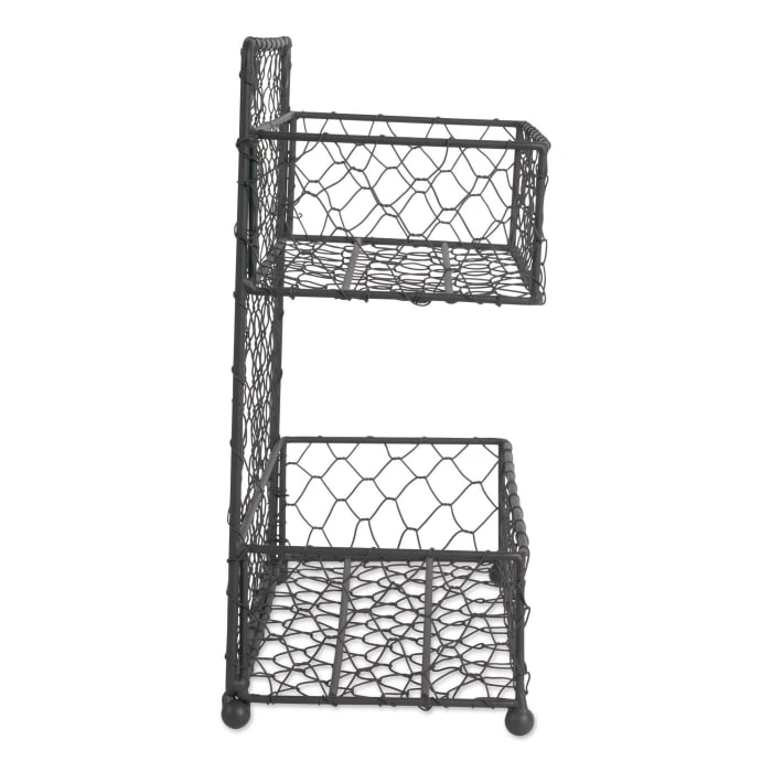Double Wide 2 Row Chicken Wire Spice Rack