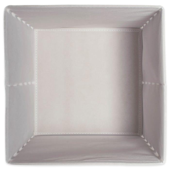 Nonwoven Polyester Cube Chevron White/Gold Square 11x11x11 Set/4