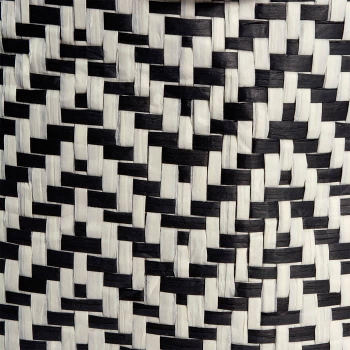 Paper Bin Chevron Black Round Large 20x15x15