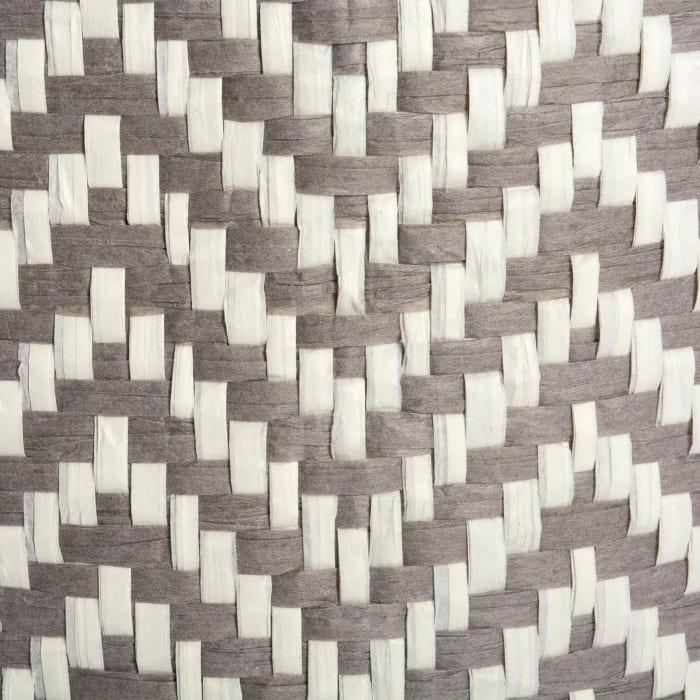 Paper Bin Chevron Gray Round Large 20x15x15