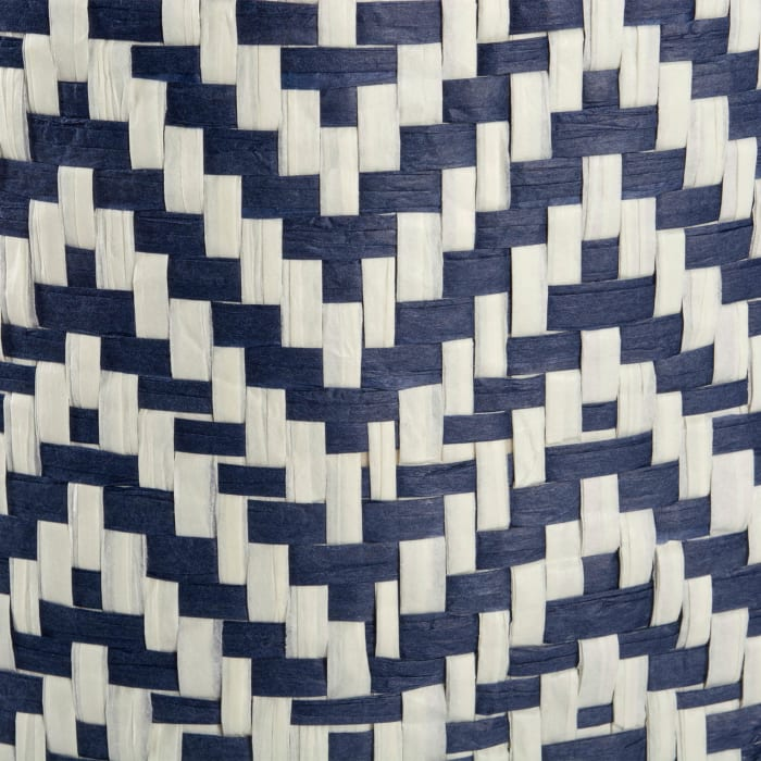 Nautical Blue Chevron Rectangle Bin 11x10x9