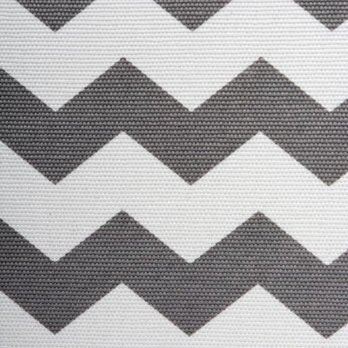 Polyester Bin Chevron Gray Trapezoid 12x10x7.75